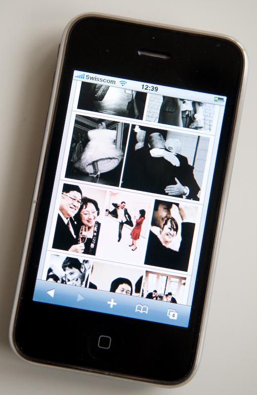 Iphone wedding photographers website
